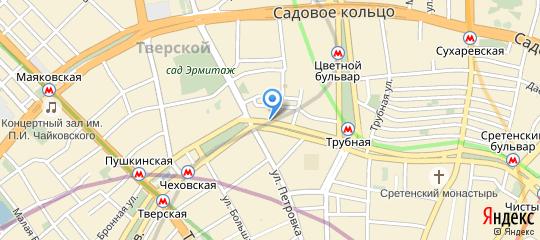 Петровский бульвар, 11 на карте Москвы